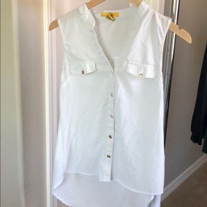 Tops - Sheer white blouse button up